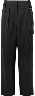 The Row Kiefer Stretch-wool Wide-leg Pants - Black