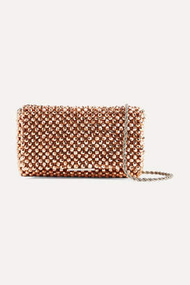 Loeffler Randall Mimi Beaded Satin Shoulder Bag - Pink