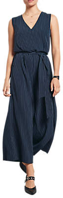 Hush Pinstripe Jumpsuit, Midnight