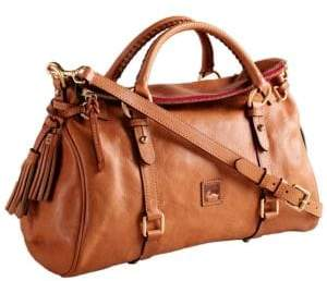 Dooney & Bourke Florentine Leather Satchel Bag $398 thestylecure.com