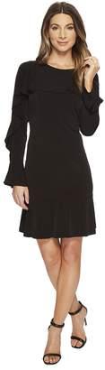 MICHAEL Michael Kors Flounce Panel Long Sleeve Dress Women's Dress