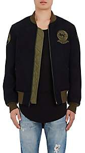 Schott NYC Perfecto Brand by PERFECTO BRAND BY MEN'S MA-1 WOOL-BLEND BOMBER JACKET-NAVY SIZE XS