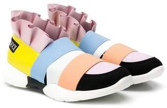 Emilio Pucci Junior colour block sneakers