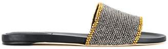 Alberta Ferretti studded trim slip-on sandals