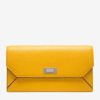 Bally Linney Suzy Yellow, Women's grained bovine continental leather wallet in kodak