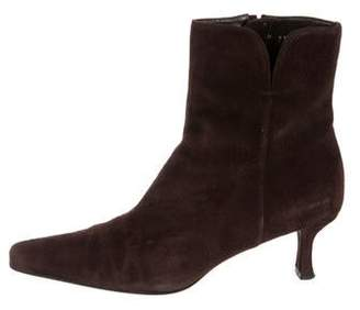 294e6b222 Stuart Weitzman Suede Pointed-Toe Ankle Boots