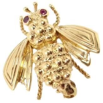 Tiffany & Co. 18K Yellow Gold Ruby Eyes Bee Pin Brooch