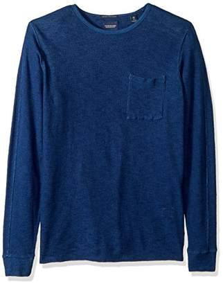 Scotch & Soda Men's Long Sleeve tee in Special Waffle Quality