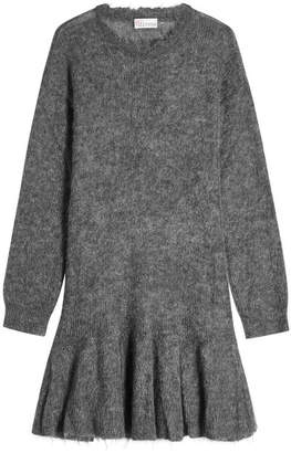 RED Valentino Dress with Mohair and Virgin Wool