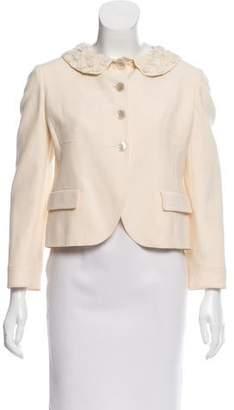Valentino Embellished Wool Blazer