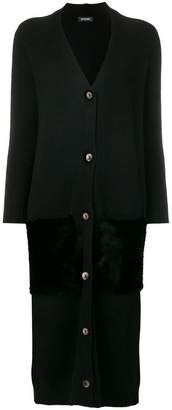 Simonetta Ravizza panelled long cardigan
