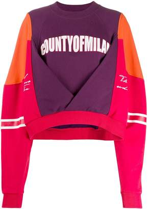 Marcelo Burlon County of Milan colour block sweatshirt