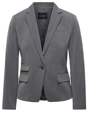 Banana Republic Petite Fitted Crop Heathered Blazer