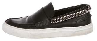Giambattista Valli Leather Chain-Link Sneakers