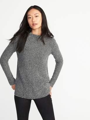 Old Navy Mock-Neck Bouclé Sweater for Women