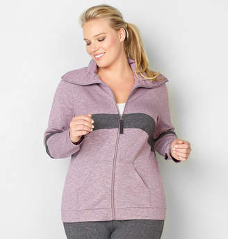 Avenue Heather Curve Stripe Active Jacket