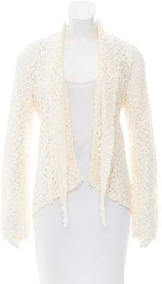 Elizabeth and James Guipure Lace Open Front Blazer