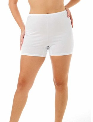 Under Moments Women's Cotton Bloomers Trunk Leg Pants 5 Inch Inseam 16 & 20 inch Length
