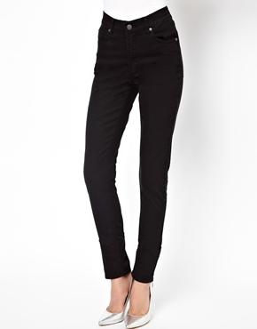 Cheap Monday Second Skin High Waist Skinny Jeans - Pitch black