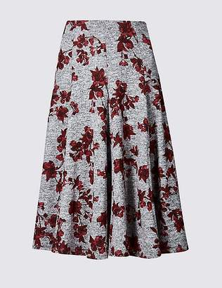 Marks and Spencer Floral Print Full Midi Skirt