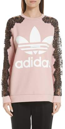 Stella McCartney Lace Inset adidas Logo Sweatshirt