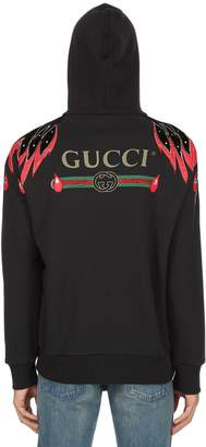 Gucci Embellished Hooded Cotton Sweatshirt