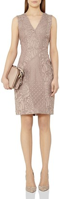 REISS Romy Lace Sheath Dress $370 thestylecure.com