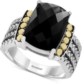 Effy Eclipse by Onyx Statement Ring in Sterling Silver & 18k Gold