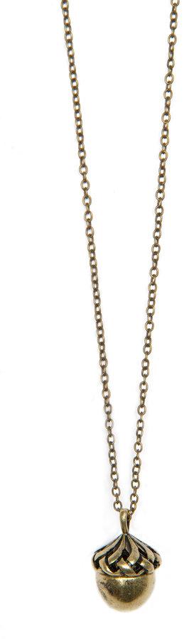 Long acorn necklace