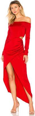 Michelle Mason Boatneck Wrap Dress