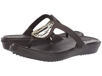 Crocs Sanrah Liquid Metallic Flip