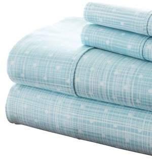 Blissful Bedding Premium Ultra Soft Thatch-Pattern Four-Piece Bed Sheet Set