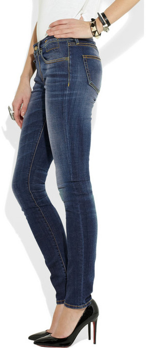 R 13 Low-rise skinny jeans