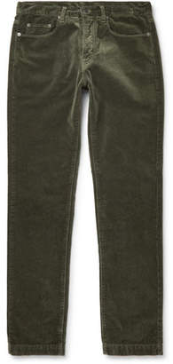 Massimo Alba Cotton-velvet Trousers - Green