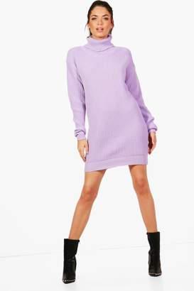 boohoo Tall Roll Neck Jumper Dress