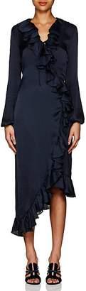 Juan Carlos Obando Women's Washed Satin Wrap-Front Dress