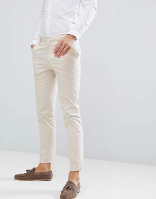 Asos Design DESIGN wedding skinny suit pants in stretch cotton in stone