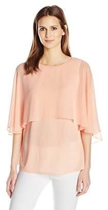 Calvin Klein Women's Short Sleeve Ruffle Top