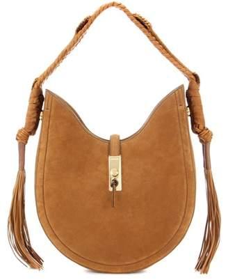 Altuzarra Ghianda Bullrope Hobo Small suede shoulder bag