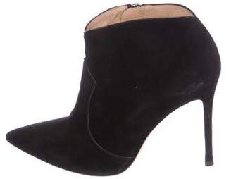 Gianvito Rossi Suede Pointed-Toe Ankle Boots