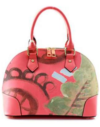 Isa Belle Isabelle Abstract Coral Handbag
