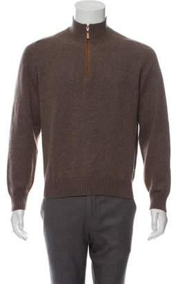 Brunello Cucinelli Cashmere Knit Half-Zip Sweater Cashmere Knit Half-Zip Sweater