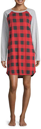Buffalo David Bitton North Pole Trading Co. Plaid Family Womens Nightshirt Long Sleeve Round Neck
