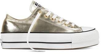 Converse Lift Metallic Canvas Platform Sneakers