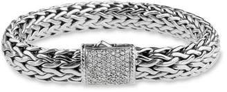 John Hardy 'Classic Chain' Large Pave Diamond Bracelet