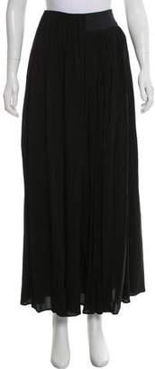 Balenciaga Silk Pleated Maxi Skirt