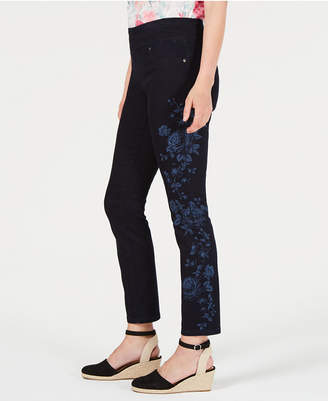 Style&Co. Style & Co Floral-Print Skinny Jeans, Created for Macy's