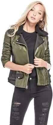 GUESS Women's Elsa Moto Jacket