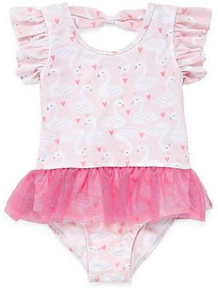 Asstd National Brand Animal One Piece Swimsuit Toddler Girls