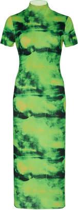 Versace Tie-Dyed Silk Turtleneck Midi Dress Size: 38